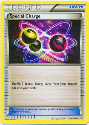 1x - Special Charge - 105/114 - Uncommon NM, English Pokemon XY Steam Siege