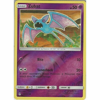 Zubat 64/214 Common Reverse Holo Card  Pokemon TCG SM10 Unbroken Bonds UK Seller