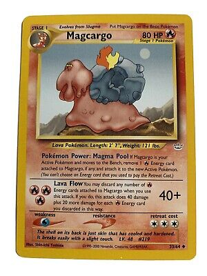 MAGCARGO - Neo Revelation Set - 33/64 - Uncommon - Pokemon Card - Unlimited - NM