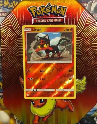 Pokemon LITTEN 24/149 - Sun & Moon Reverse Holo - MINT