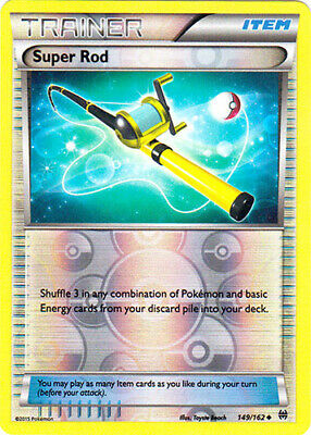 1x - Super Rod - 149/162 - Uncommon - Reverse Holo LP Pokemon BREAKThrough