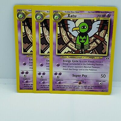 Xatu 52/75 Neo Discovery Unlimited LP/NM condition uncommon Pokemon Card