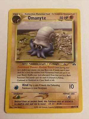 *Omanyte 60/75 - Common - Unlimited - Pokemon WOTC Neo Discovery Card - Mint