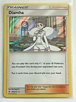 Pokemon Diantha Holo Rare 105/131 Forbidden Light NM
