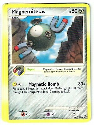 Pokemon Diamond and Pearl Stormfront, Magnemite 66/100  common Mint