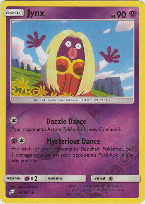 1x - Jynx - 68/181 - Uncommon - Reverse Holo NM Pokemon Sun & Moon - Team Up