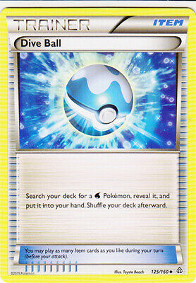1x - Dive Ball - 125/160 - Uncommon NM, English Pokemon Primal Clash