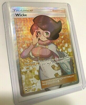Pokemon Full Art Trainer Wicke 147/147 Burning Shadows Nm Ultra Rare