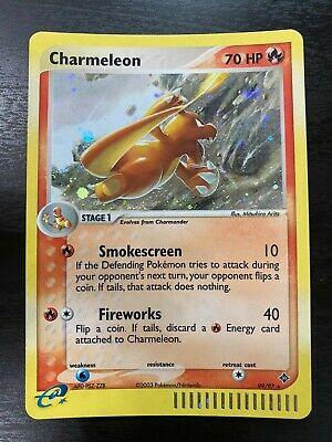Pokemon 2003 E Series EX Dragon Secret Rare 99/97 Holofoil Rare Charmeleon WOTC