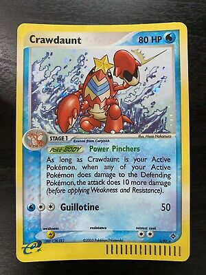 Pokemon 2003 Nintendo E Series EX Dragon 3/97 Holofoil Rare Crawdaunt