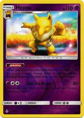 1x - Hypno - 72/214 - Rare - Reverse Holo LP, English Pokemon Unbroken Bonds