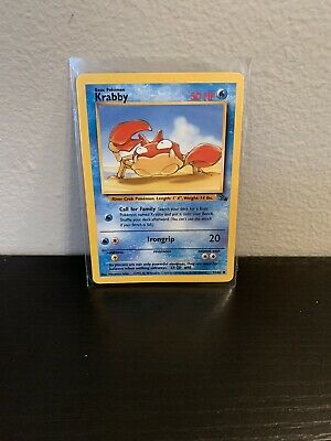 Krabby 51/62 Fossil Set - Unlimited Edition -Common Pokemon Card