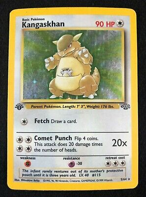 Kangaskhan 1st Edition 5/64 – Jungle Set – Holo Rare – NM/Mint – Used - Pokemon