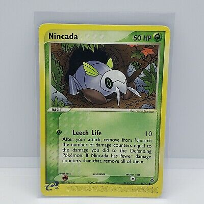 NINCADA 68/97 EX Dragon Pokemon WOTC Card