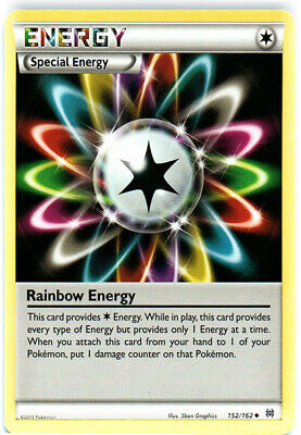 1x - Rainbow Energy - 152/162 - Uncommon PL/MP, English Pokemon BREAKThrough