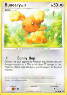 1x - Buneary - 55/99 - Common NM, English Pokemon Arceus