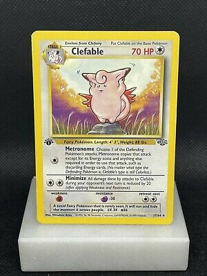 1999 Pokemon Jungle 1st Edition Clefable #17 LP