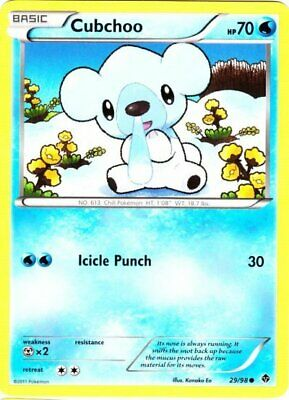 1x - Cubchoo - 29/98 - Common NM, English Pokemon Emerging Powers
