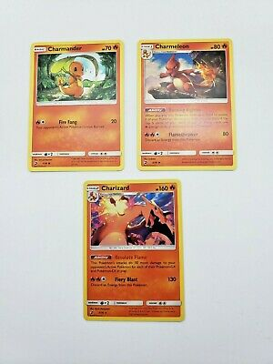 Pokemon Dragon Majesty Holo Charizard 3/70 Charmeleon 2/70 Charmander 1/70 LP