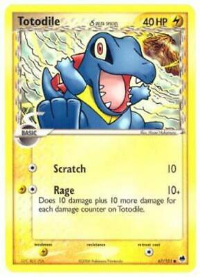 1x - Totodile δ - 67/101 - Common NM, English Pokemon EX Dragon Frontiers