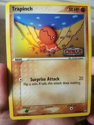 2007 Pokemon Ex Power Keepers Set Trapinch Reverse Holo Card 68/108
