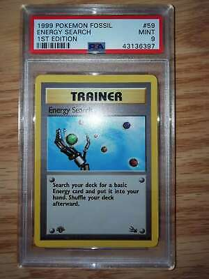 Pokemon Energy Search fossil 1st edition PSA 9 59/62