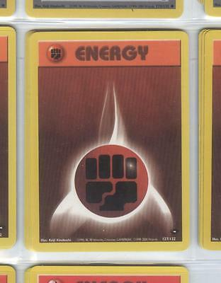 FIGHTING ENERGY 127/132 - Pokemon - Gym Challenge - NM = Buy more cards & save!