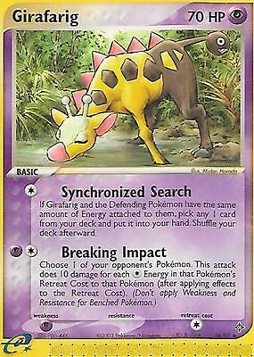 GIRAFARIG - 16/97 – Pokemon – Ex Dragon - NM = Buy more cards and save!
