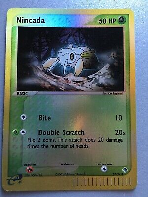 POKEMON: NINCADA 67/97 - REVERSE HOLO CARD - EX DRAGON - Near Mint