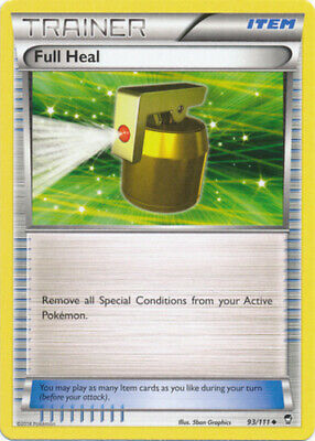 1x - Full Heal - 93/111 - Uncommon - Reverse Holo NM Pokemon Furious Fists