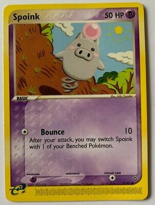 Spoink 73/97 Common Ex Dragon 2003 Pokemon Nm/m