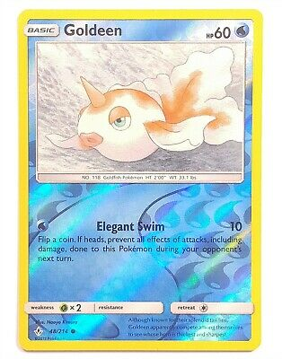 Pokemon TCG Unbroken Bonds , Goldeen 48/214, Common Reverse Holo NM-M