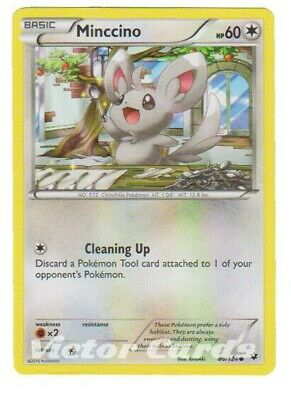 Pokemon Minccino - 86/124 - X4 - Fates Collide - LP