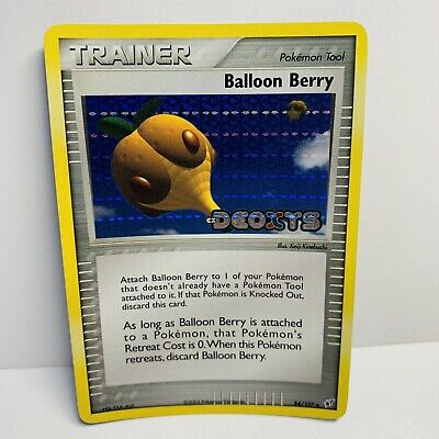 Balloon Berry 84/107 Trainer Reverse Holo Stamped EX Deoxys Pokemon Card