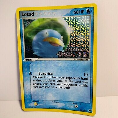 Lotad 35/107 Reverse Holo Stamped EX Deoxys Pokemon Card