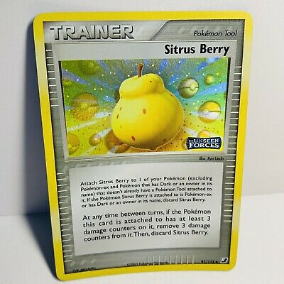 Sitrus Berry Trainer 91/115 Reverse Holo EX Unseen Forces Pokemon Card