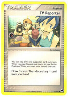 1x - TV Reporter - 82/101 - Uncommon LP Pokemon EX Dragon Frontiers