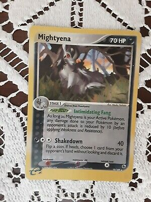 Pokemon card Mightyena 10/109 ex Ruby and sapphire Holo