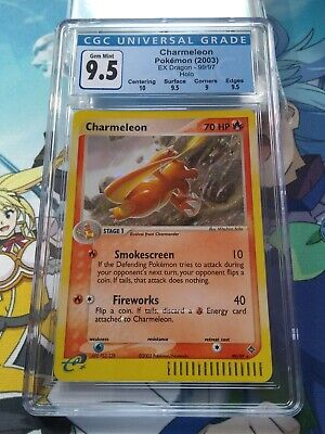 CGC 9.5 Gem Mint Charmeleon Secret Rare 99/97 EX Dragon Pokemon - 69003
