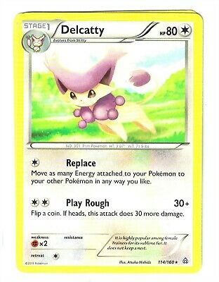 Pokemon XY Primal Clash, Delcatty 114/160, Rare, NM