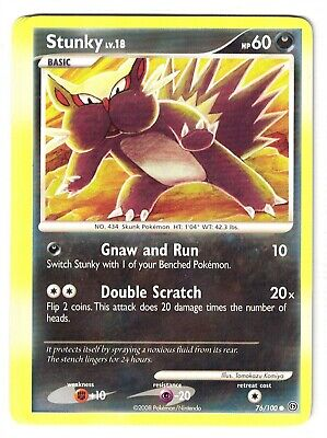 Pokemon Diamond and Pearl Stormfront, Stunky 76/100  common Mint