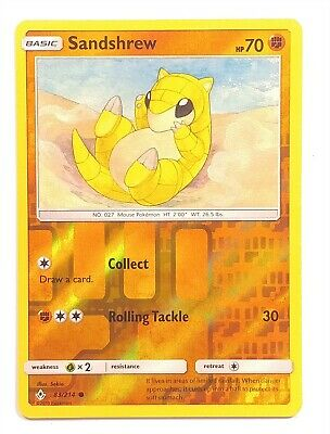 Pokemon TCG Unbroken Bonds , Sandshrew 83/214, Common Reverse Holo NM-M