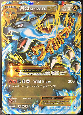 Pokemon Card🔥 M Charizard EX 108/106 Secret Rare Holo🔥[Flashfire 2014] PSA❓