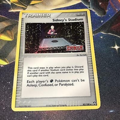 Sidney's Stadium ~ 82/108 ~ Stamped Holo ~ EX POWER KEEPERS ~ LP ~ Pokemon Card