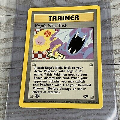 1x 1st Edition Koga's Ninja Trick 115/132 TRAINER  Gym Challenge Pokemon Card VG