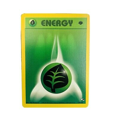 1x 1st Edition Grass Energy 129/132 Gym Heroes Pokemon Card EX
