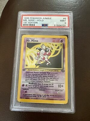 1999 Pokemon Jungle 1st Edition Holo Mr. Mime #6 PSA 9 MINT