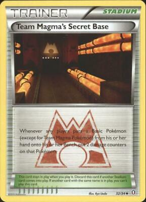 (pok-DC-032) Team Magma's Secret Base Uncommon Pokemon Double Crisis Card #32