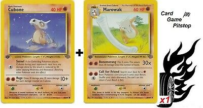 Marowak  Cubone  | Pokemon Jungle 1st Edition Uncommon 39/64 MP Evolve Form