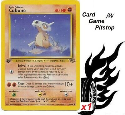 Cubone  | Pokemon Jungle 1st Edition Common 50/64 MP